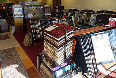 Large variety brand name carpeting